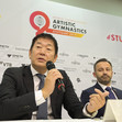 ART-WCh Stuttgart/GER 2019: press conference, WATANABE Mori FIG president