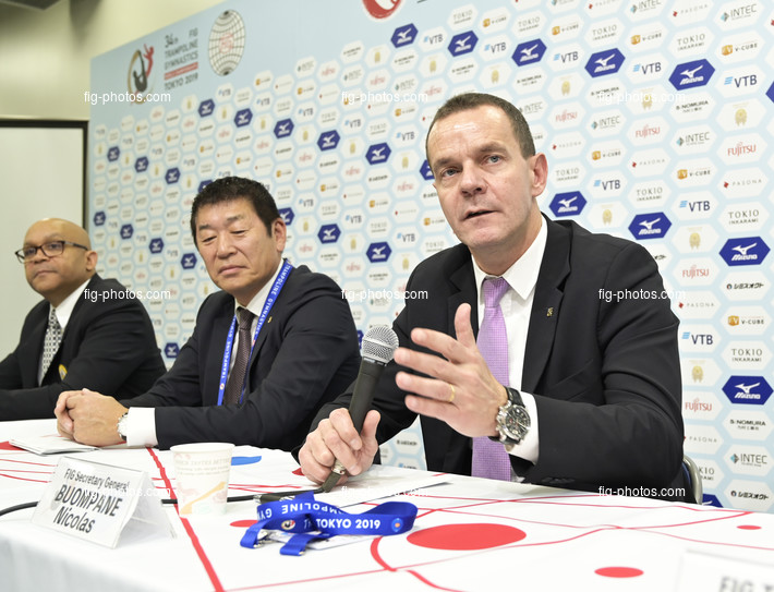 TRA WCh Tokyo/JPN 2019: FIG president round table, BUOMPANE Nicolas