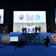 TRA WCh Tokyo/JPN 2019: VTB Prize for Accuracy Special Award Ceremony for LITVINOVICH Ivan BLR + LABROUSSE Léa FRA