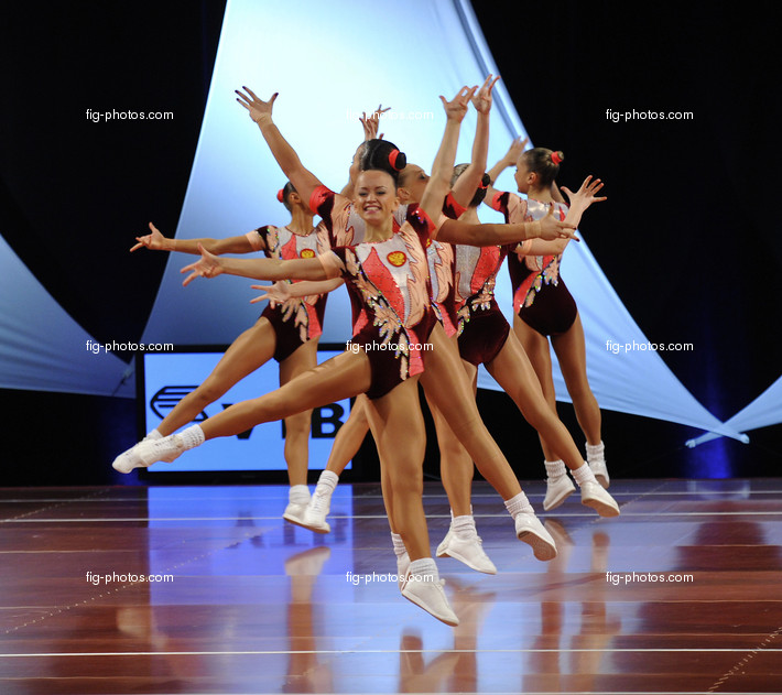 Aerobic-WC Rodez: group RUS1