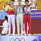 YOG 2010 Singapore: trampoline men's podium