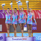 YOG 2010 Singapore: podium RG groups all-around, team CAN