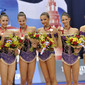 Rhythmic WCh Moscow/RUS 2010: group BUL with medals