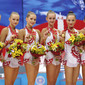 Rhythmic WCh Moscow/RUS 2010: group RUS with medals