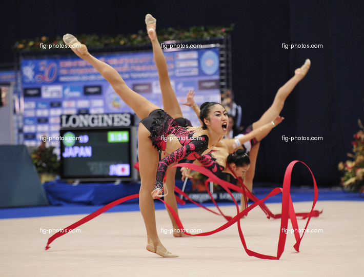 Rhythmic WCh Moscow/RUS 2010: group JPN