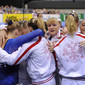 Artistic WCh Rotterdam/NED 2010: team RUS crying