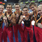 Artistic WCh Rotterdam/NED 2010: team GER with medals