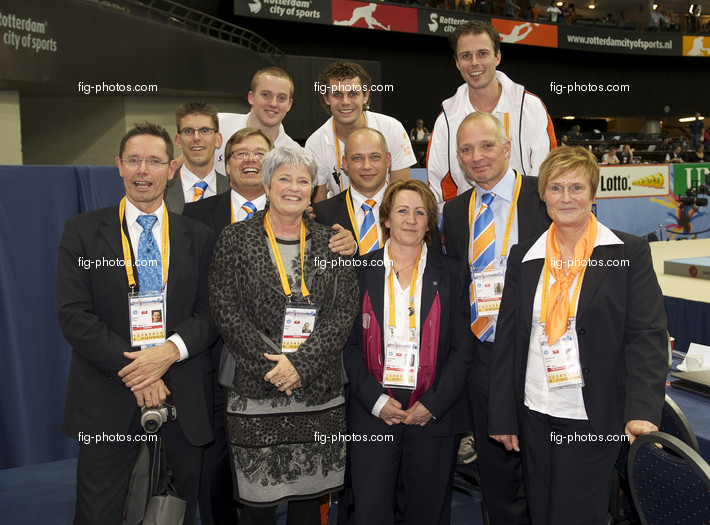 Artistic WCh Rotterdam/NED 2010: Announcer, sound technic and OC members
