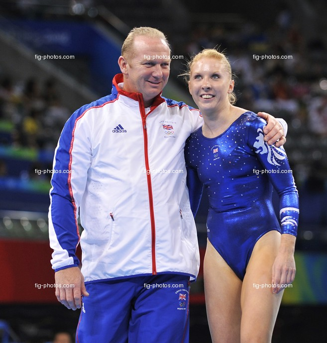 Olympic Games 2008:  WRIGHT Claire/GBR + coach
