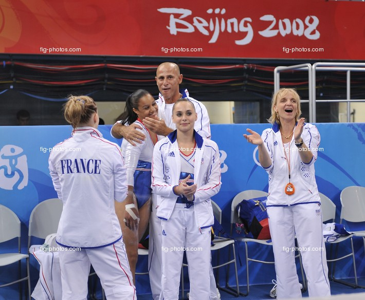 Olympic Games 2008: team FRA happy