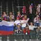 Rhythmic WCh Montpellier/FRA 2011:  fans from RUS