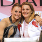 Rhythmic WCh Montpellier/FRA 2011:  LEDOUX Delphine/FRA with coach
