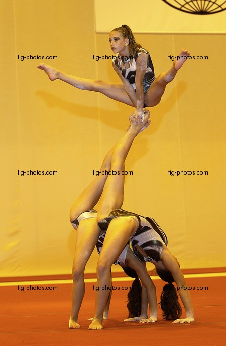 Welt-GYM: Group Performance/GRE, acrobatic group
