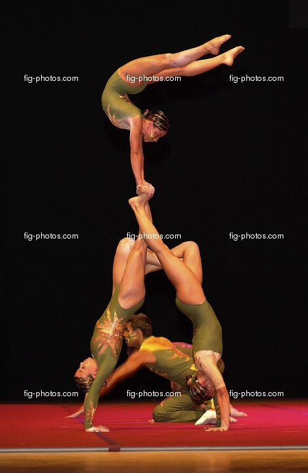 Welt-GYM: National Evening/POR, acrobatic group