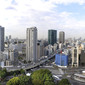 Artistic WCh Tokyo/JPN 2011: Tokyo city from Prince Tower Hotel