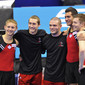 Trampoline WCh Birmingham/GBR 2011: mens team CAN celebrating