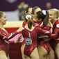Visa International Gymnastics 2012: team FRA celebrating