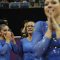 Visa International Gymnastics 2012: team BRA celebrating