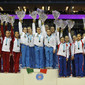 Visa International Gymnastics 2012: women's victory ceremony