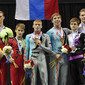 Acrobatic WCh 2012 Lake Buena Vista Florida: ceremony men's pair, GBR+RUS+BLR