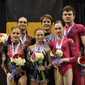 Acrobatic WCh 2012 Lake Buena Vista Florida: ceremony mixed pair, RUS+BEL+UKR