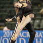 Acrobatic WCh 2012 Lake Buena Vista Florida: mixed pair FRA, DENEUVILLE Charlotte ROLLAND-JACOB Maxime