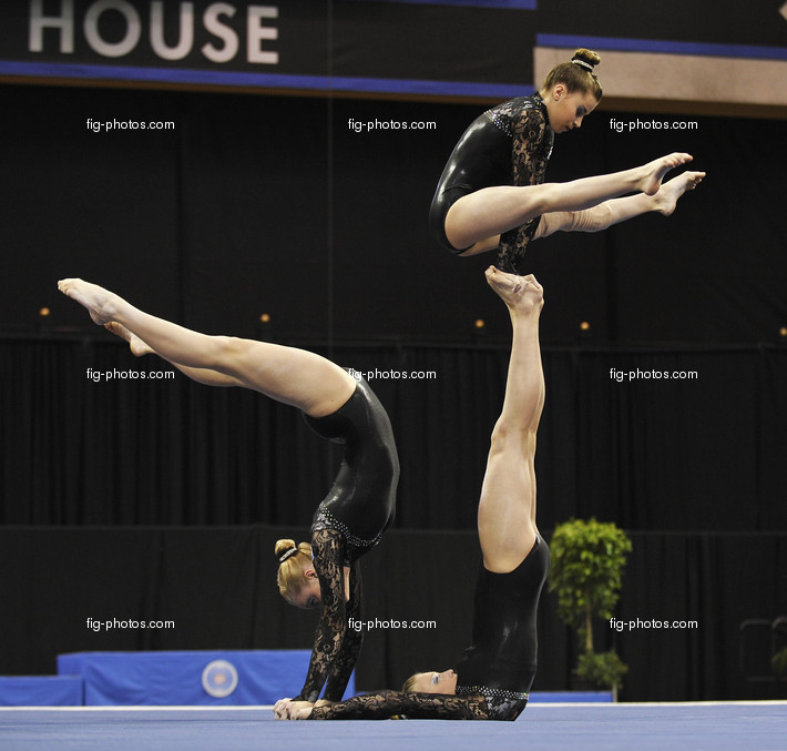 Acrobatic WCh 2012 Lake Buena Vista Florida: womens group NED, DIGNOUTS Julie LAANE Charlotte VAN MOOK Pleunie.