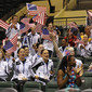 Acrobatic WCh 2012 Lake Buena Vista Florida: USA fans with flags