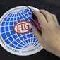 Worlds London 2009: mousepad with FIG flag