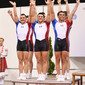 Aerobic WCh 2012 Sofia/Bulgaria: podium group FRA